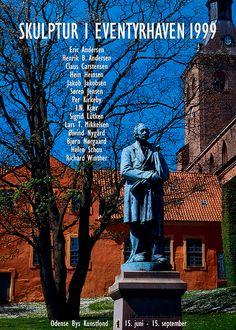 Plakat fra udstilling i eventyr haven september 1999 Odense, September, Politics, Sculptures, Nature