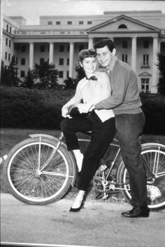 Debbie Reynolds and Eddie Fisher on their honeymoon at the Greenbrier