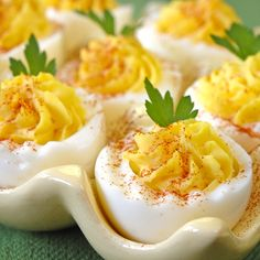 deviled eggs  Let's Throw A 1960s Party!