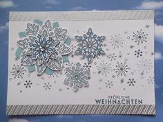 """"""" Flockentanz """"- endlich mal ein Schneeflocken-Stempelset mit Handstanzen !"""
