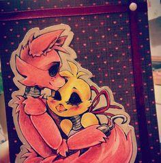 Watercolour and colour pencil mix picture I randomly made. Ah well I kinda like it Bonnie (C) Scott Cawthon