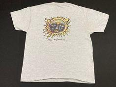 Sublime 40 oz. To Freedom T Shirt Burning Sun Stoner Logo Long   Etsy Vintage Band T Shirts, Ska Punk, Punk Rock, Freedom, Vintage Outfits, Sun, The Originals, Tees, T Shirts