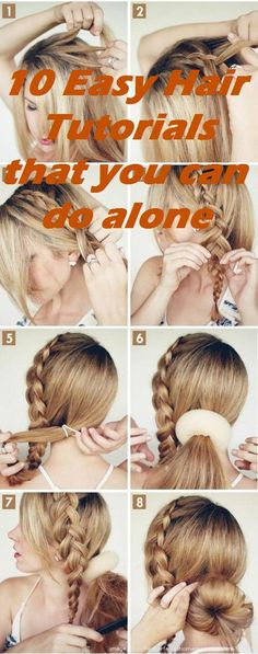 10 Easy Hair Tutorials that you can do alone