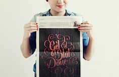 Get Shit Done by Marie Zieger, via Behance