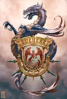 TrueHeart coat of arms by XRobinGoodFellowX.deviantart.com on @deviantART