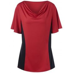 SHARE & Get it FREE   Plus Size Colorblock Cowl Neck T-ShirtFor Fashion Lovers only:80,000+ Items·FREE SHIPPING Join Dresslily: Get YOUR $50 NOW!