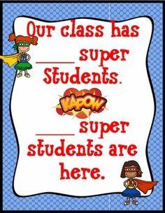 Attendance Hero Editable School Wide Kit Attendance Incentives, Attendance Board, Classroom Displays, Music Classroom, Classroom Ideas, Letter To Teacher, School Office, School Counseling, Board Ideas