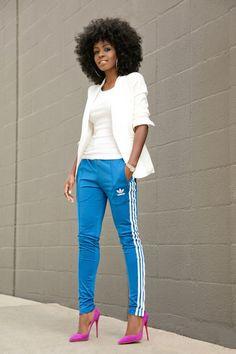 anne makeup®: mural fashion: trend européia vem com tudo, aposte na calça esportiva