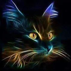 """Feline Fine Art """"The Cat's Whiskers"""" Crazy Cat Lady, Crazy Cats, I Love Cats, Cool Cats, Cat Embroidery, Gatos Cats, Cross Paintings, Cat Paintings, Warrior Cats"""