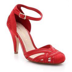 Zapatos de tacón alto, ante sintético