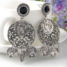 """Coin Statement Earrings Beautiful Bohemian Coin Earrings  Size: 1"""" x 2.5""""  Materials: Silver-tone Base Metals, Nickel & Lead Free  Condition: New Jewelry Earrings"""