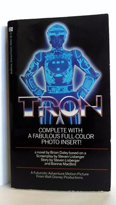 Retro Reading Tron The Great Movie Now As A Book 1st Printing 1982