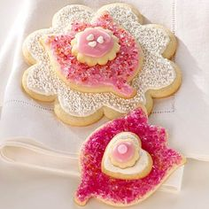 Flower Cookies with Cardamom from BHG.com:    I don't think I'd stack them 3 high, but they sound delicious!