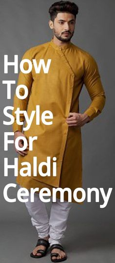 No efforts are put in by men to get the perfect look for haldi ceremony. So, here we have some outfit ideas for men. Indian Men Fashion, Mens Fashion, Mens Kurta Designs, Haldi Ceremony, Indian Man, Men Dress, Marriage, Sweatshirts, Weeding
