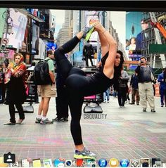 You gotta love how True Yogis will strike a pose anywhere at anytime.