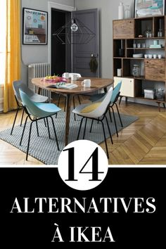 Looking for an alternative to IKEA furniture? Discover here a list of 14 alternatives to replace your IKEA furniture! Source by fannyesclassan Ikea Deco, Diy Home Decor, Room Decor, Dark Interiors, Ikea Furniture, Furniture Outlet, Classic Furniture, Home Staging, Interior Design Living Room