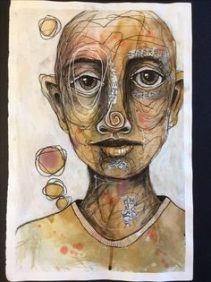 Deb Weiers - Collage Face 2