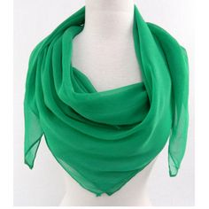The girl in the green scarf: Love this solid silk look!
