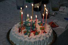 Torta di compleanno di Matteo con candeline