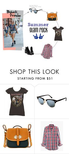 """Glam Rock by Behati Prinsloo"" by smartbuyglasses-uk ❤ liked on Polyvore featuring Dooney & Bourke, Madewell, rayban and behatiprinsloo"