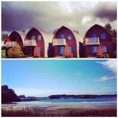 A cabin with a front row view of the ocean! #Tofino