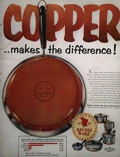 Original 1954 Revere-Ware Ad (Copper makes the difference)