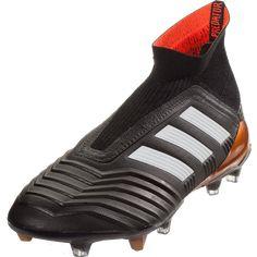 new styles 6f69d bfa5e adidas Predator 18+ FG Soccer Cleat - Black White Solar Red   SOCCER.COM