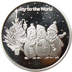 World 1, Joy To The World, Silver Rounds, 1 Oz, Holiday Gifts, Pure Products, Art, Xmas Gifts, Art Background
