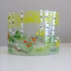 E. Badiuk Fused Glass - Aspen Summer, Sooke