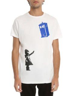 Doctor Who TARDIS Street Art T-Shirt
