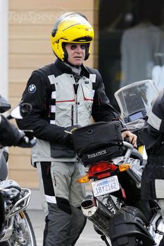 Harrison Ford with his BMW R1200GS