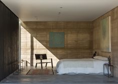Rammed earth walls at Tucson Mountain Retreat by DUST