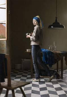 Dorothee Golz's take on Vermeer's Girl with a Pearl Earring