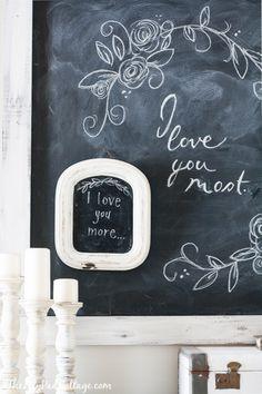 Valentine Chalkboard Art by The Lilypad Cottage