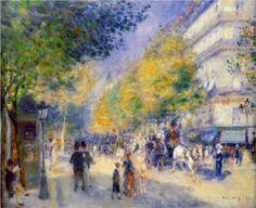The Great Boulevards - Pierre-Auguste Renoir , 1875 - Gallery: Philadelphia Museum of Art, Philadelphia, PA, USA