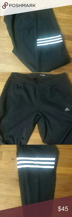 NWT adidas pants size M Black pants with zip up ankle detail.  Inseam 29 inches size Medium. pocket on waist band. Adidas Pants Track Pants & Joggers