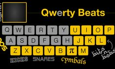 Online, not an app - Cool!! Qwerty Beats: turns your keyboard into an online drum set!