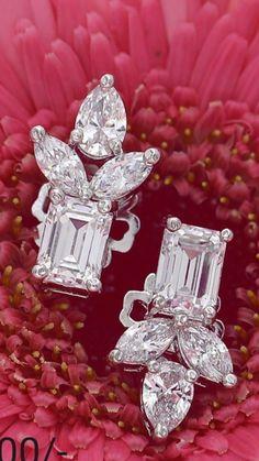 Diamond Chandelier Earrings, Diamond Jewelry, Lotus, Jewelery, Diamonds, Gems, Bling, Glitter, Engagement Rings