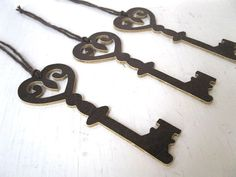 Leather Key Ornaments