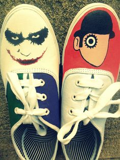 the joker and a clockwork orange shoes.