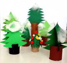 Tannen- und Laubbaum - Pflanzen Basteln - Meine Enkel und ich - Made with schwedesign.de Advent, Christmas Diy, Christmas Ornaments, Diy Weihnachten, Winter Theme, Crafts For Kids, Projects To Try, Craftsman, Holiday Decor
