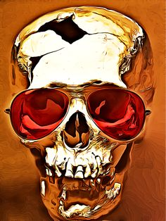 "Skull art: digital rendering ""Skullz_Golden"" by rajasegar chandiran Pondicherry, India 2013-11 via Behance 12489325"