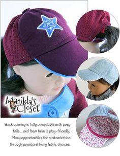 "Atta Girl Baseball / Softball Cap 18"" Doll Clothes"