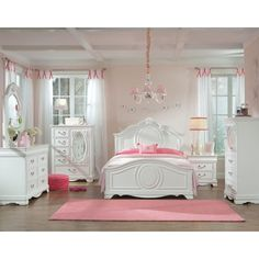 Charmant Standard Furniture Jessica Twin Bed With Beaded Pearl Trim