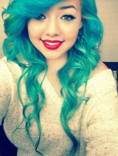 Green Teal Blue Hair >> http://amykinz97.tumblr.com/ >> www.troubleddthoughts.tumblr.com/ >> https://instagram.com/amykinz97/ >> http://super-duper-cutie.tumblr.com/