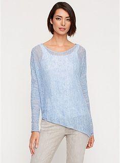 Eileen Fisher asymmetrical linen sweater