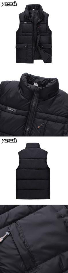 #2453 2017 Winter vest Thick Multi pocket vest Waistcoat Bodywarmer Mens warm vest Coletes masculino inverno sleeveless coats