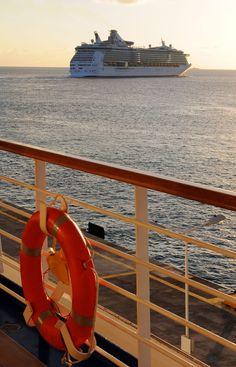Royal Caribbean's Freedom of the Seas leaving Cozumel, Mexico