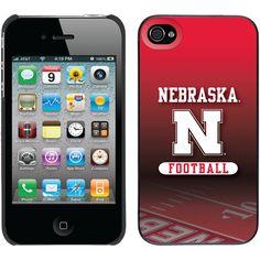"""Nebraska Football Field"" Nebraska design on iPhone 4s / 4 Thinshield Snap-On Case by Coveroo in Black"
