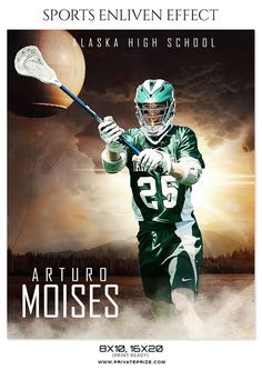 Moises Artueo  - Lacrosse Sports Enliven Effects Photography Template